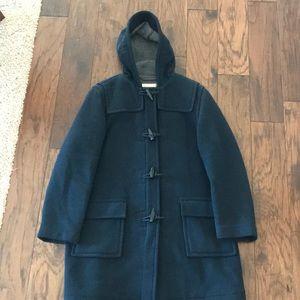 Classic JCrew wool toggle coat